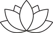 Spa salon flower linear icon. Aromatherapy lotus. Thin line. Vector