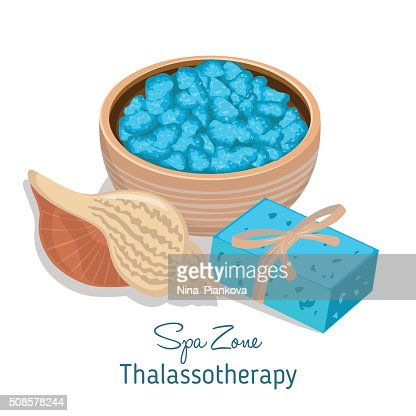 Spa theme object on white background. : Vectorkunst