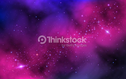 Space background. Bright milky way with nebula and stars. Color galaxy with stardust. Abstract futuristic backdrop. Vector illustration : stock vector