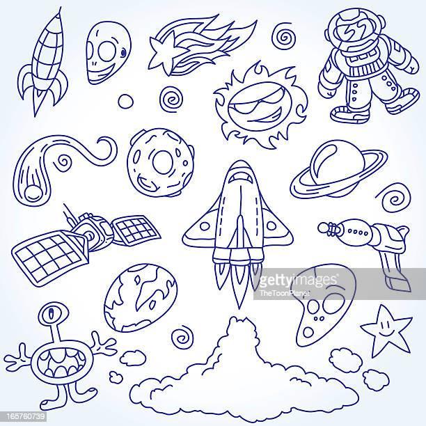 Ensemble de l'espace et crayonnages