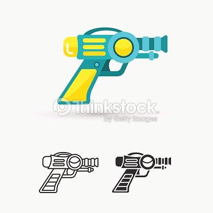 space laser ray gun gun toy icon ベクトルアート thinkstock