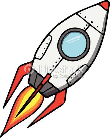 Space Rocket Cartoon Vector Illustration stock vector ...