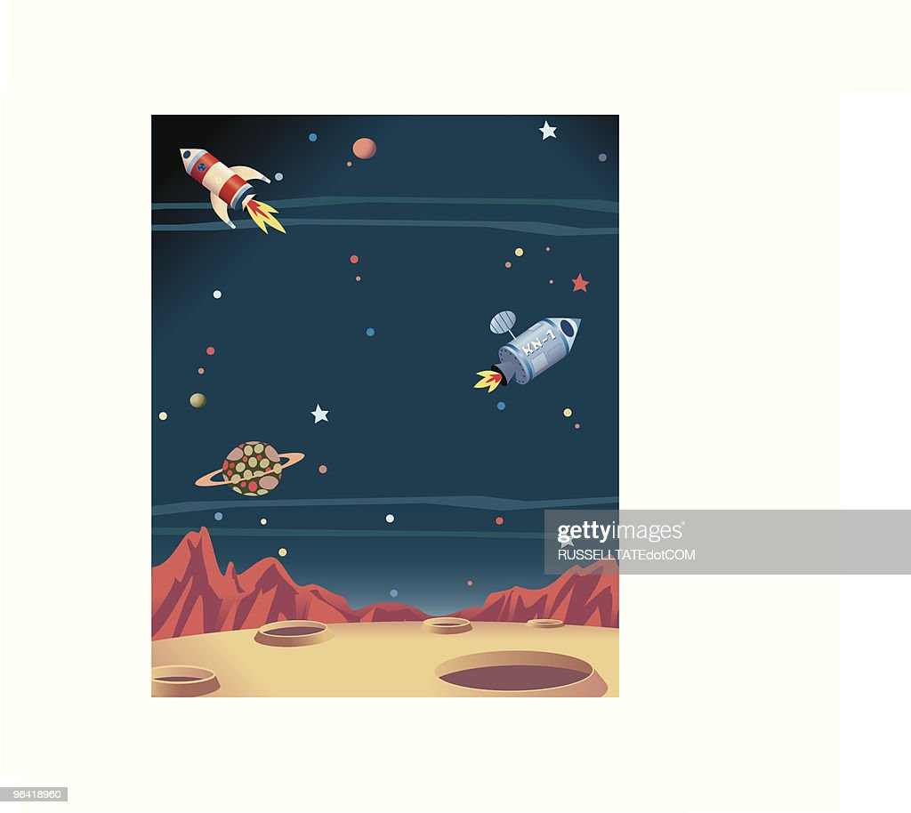 space rockets vector art getty images