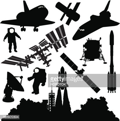 astronaut silhouette vector - photo #22