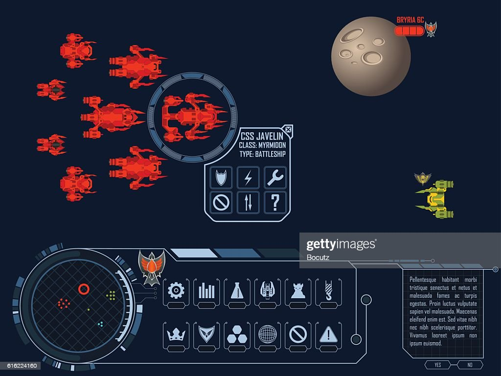 Space strategy game asset : ベクトルアート
