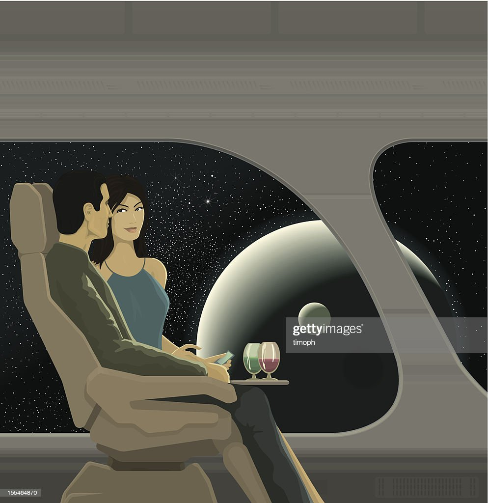 Space travel interior : Vector Art