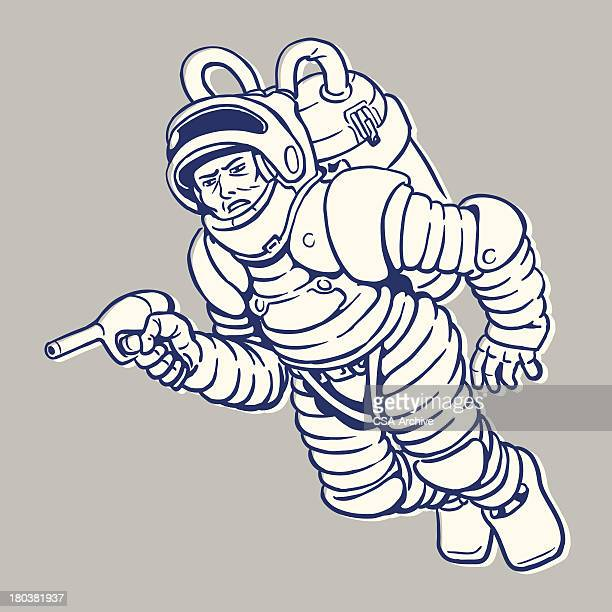 Spaceman with Ray Gun