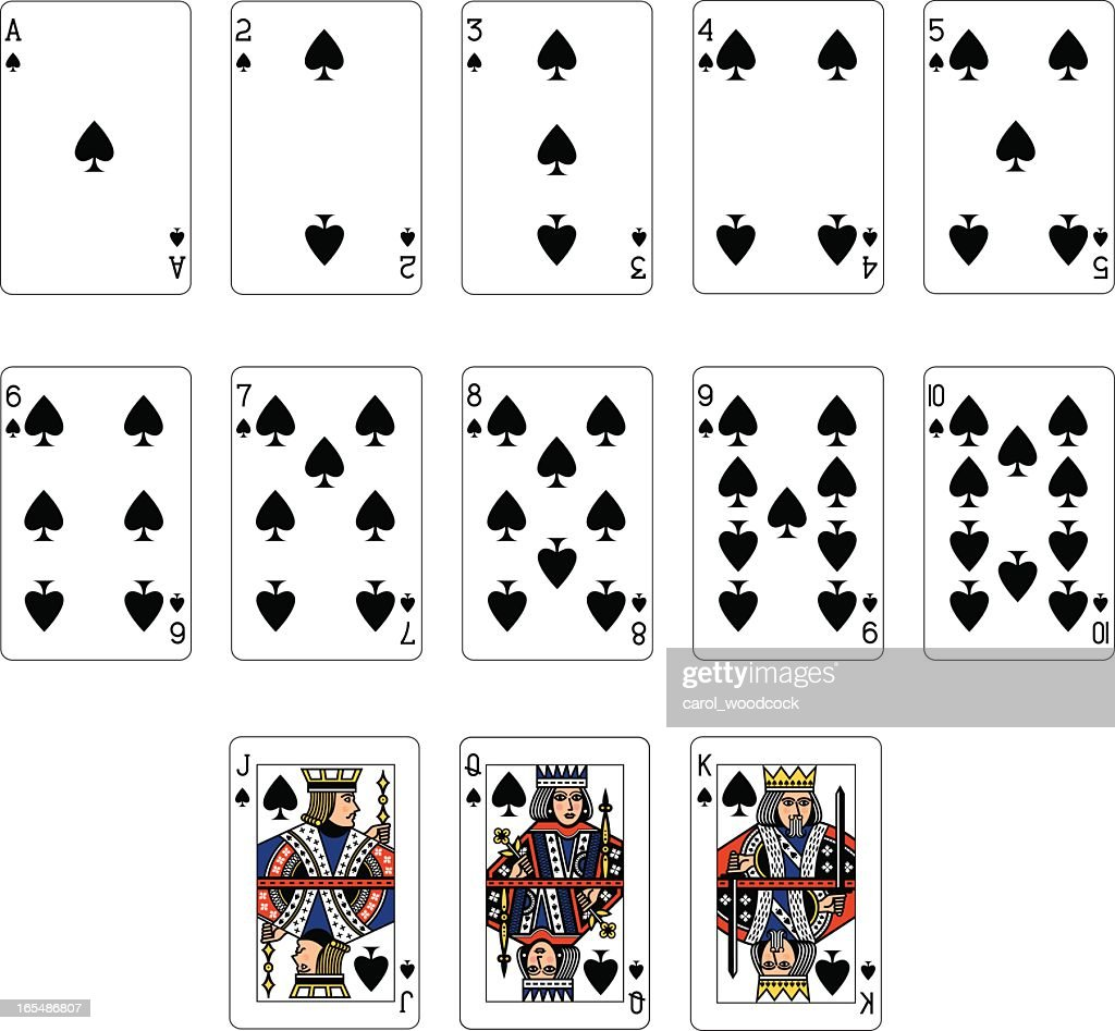 Playing Card Spade Suit Flat Icon For Apps And Websites Stock ...