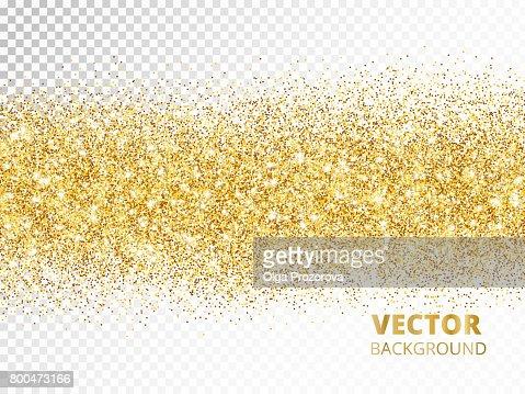 Sparkling glitter border isolated on transparent background, vec : Arte vettoriale