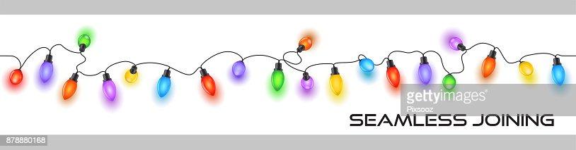 Funkelnde festliche Weihnachten Lichterkette bunte Kabel Dekoration : Vektorgrafik