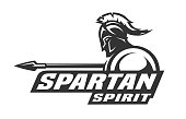 Spartan spirit monochrome symbol, symbol. Vector illustration