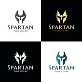 Spartan design template. vector illustration