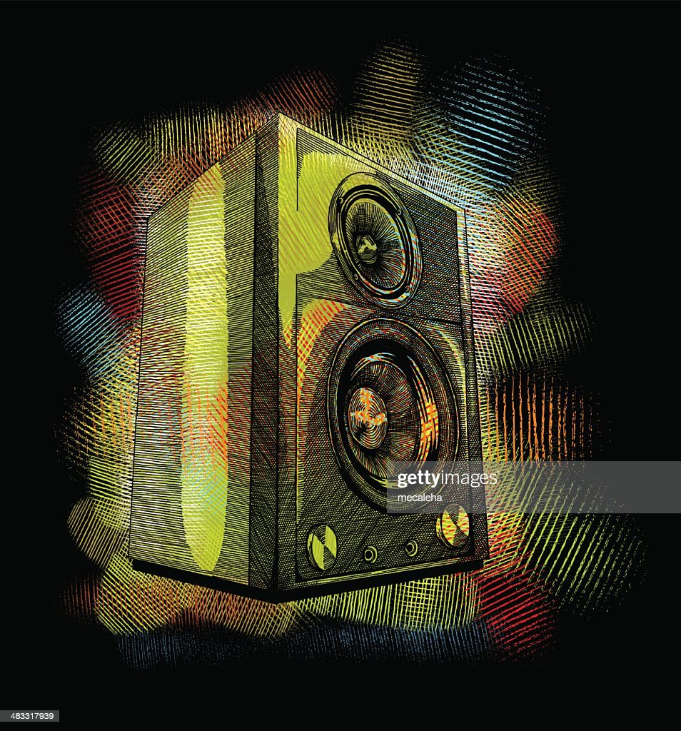 speakers art. speakers : vector art