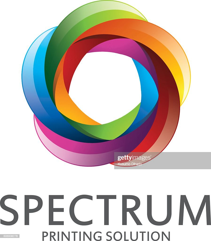 spectrum logo design with rainbow color abstract colorful spect
