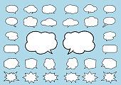 speech bubbles, icons set  Vector EPS10.