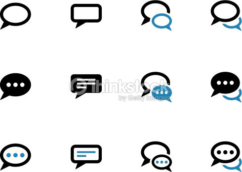 Speech Bubble Duotone Icons On White Background Vector Art Thinkstock