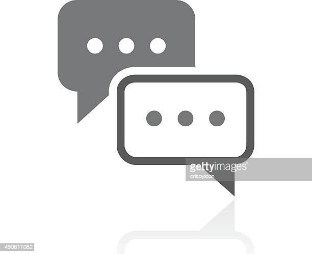 Speech Bubble icon on a white background. - ProSeries