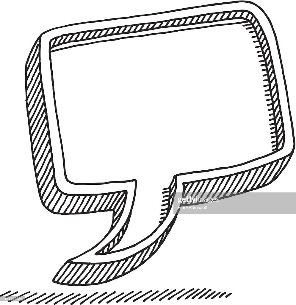 Speech Bubble Talking Symbol Drawing : Vector Art