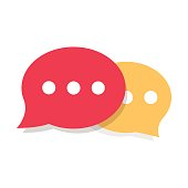 Speech Bubble Vector Icon. Chat pictogram or discussion symbol