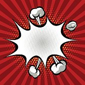 Vector Comic Book Speech Bubble.
