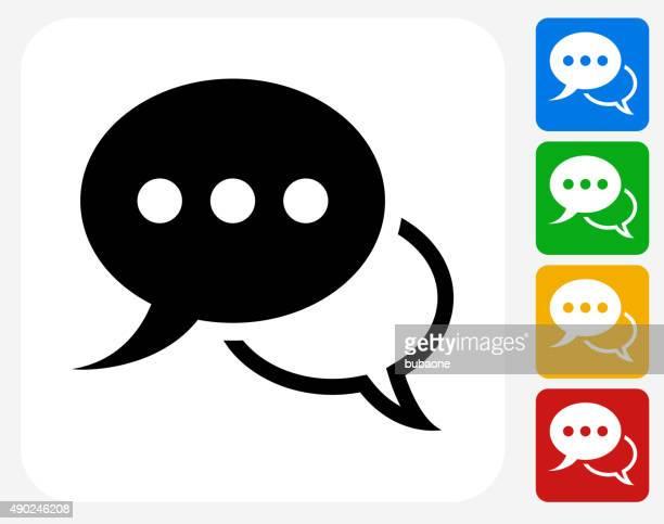 Speech Bubbles Icon Flat Graphic Design
