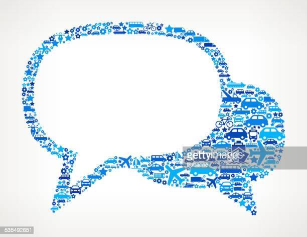 Speech Bubbles On Transportation royalty free vector art Pattern