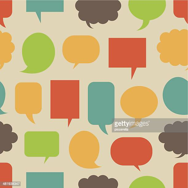 Speech Bubbles Seamless Pattern
