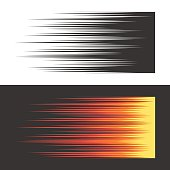 Speed motion horizontal lines. Monochromic and coloured comic book background. Vector illustration for web design banner or print