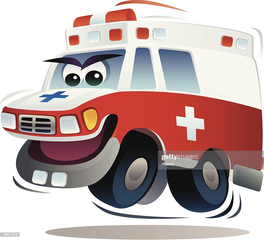 speedy ambulance : Vector Art