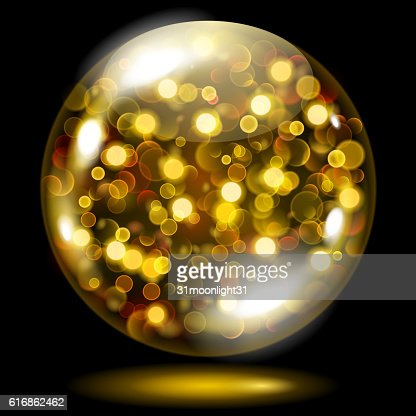 Sphere with gold sparkles : Vector Art