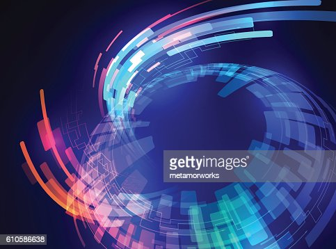 spherical surface, and ray of light, abstract image : stock vector