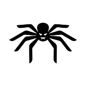 Spider icon - Halloween icon vector illustration black