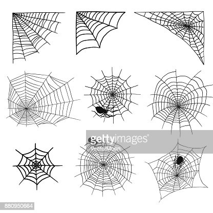Web Halloween | Spiders And Spider Web Silhouette Spooky Nature Halloween Element