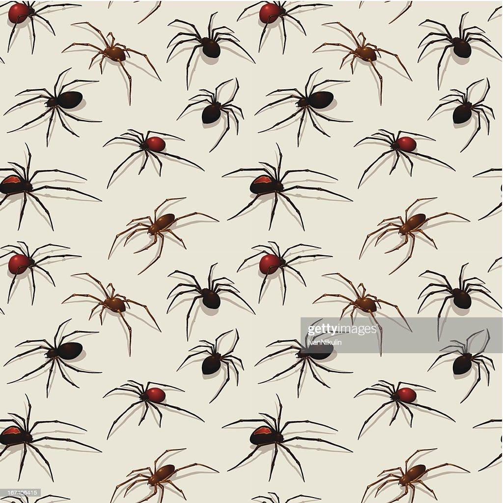 Spiders seamless pattern : Vector Art