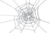 Spiderweb covering center of image
