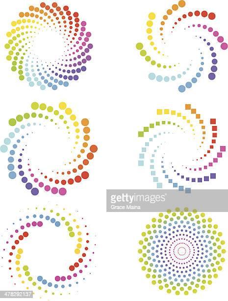 Círculos y cubos en espiral
