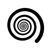 Spiral color black on the white background. Vector illustration