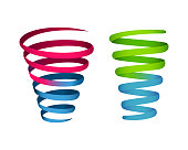 colorful spiral infographic element
