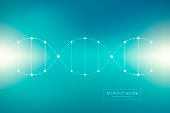 DNA spiral system, science and technology vector illustration