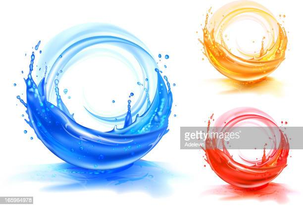 Splash water and juice backgrounds