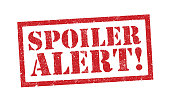 Vector illustration of the word Spoiler Alert in red ink stamp