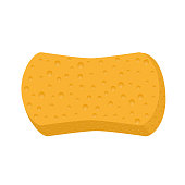 Sponge for washing vector icon on white background