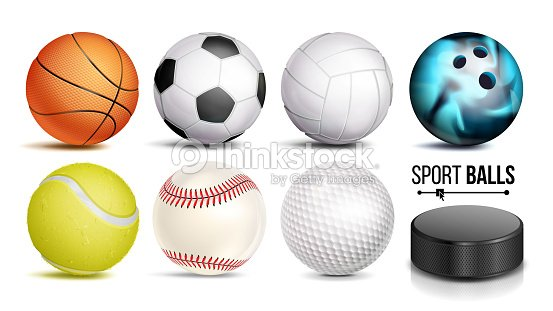 Sport Ball Set Vector 3D Realistic Popular Sports Balls Isolated On White Background Illustration