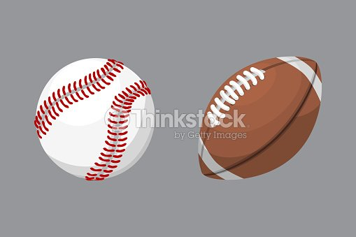 Sport balls isolated tournament win round baseball soccer equipment and recreation leather group traditional different design vector illustration