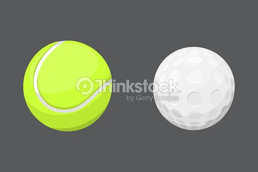 Sport balls isolated tournament win round golf equipment and recreation tennis group traditional different design vector illustration