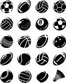 Sport balls set. Collection sport balls set, edit size and color, vector