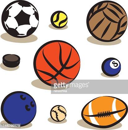 Ballons de Sport : Clipart vectoriel