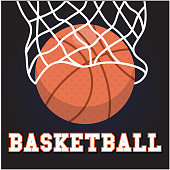 Sport Basketball Hoop Background Vector Image