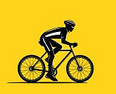 Sport Biker Silhouette. Cycling man