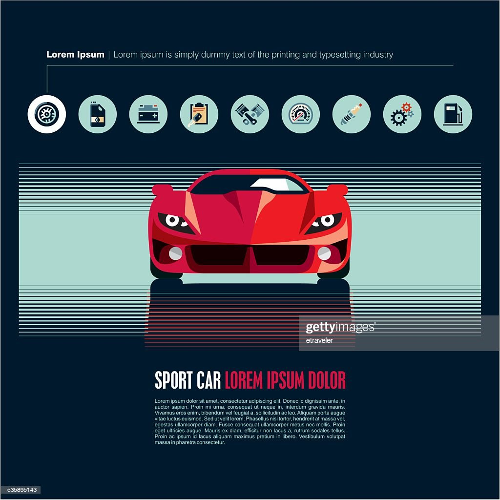Sport car vector : Vector Art